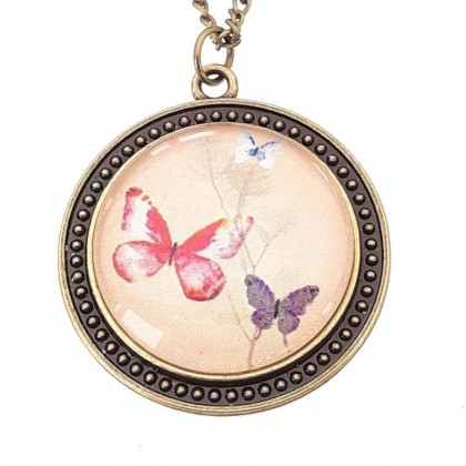 Collar Scope 30 Round - Butterflies