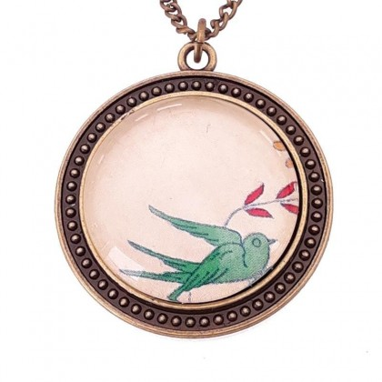 Collar Scope 30 Round - Green Bird