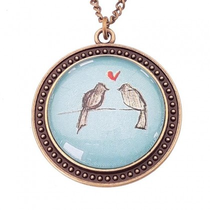 Collar Scope 30 Round - Love Birds