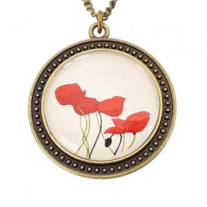 Collar Scope 30 Round - Poppy