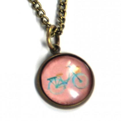 Pulsera de cadena - Bici Rosa