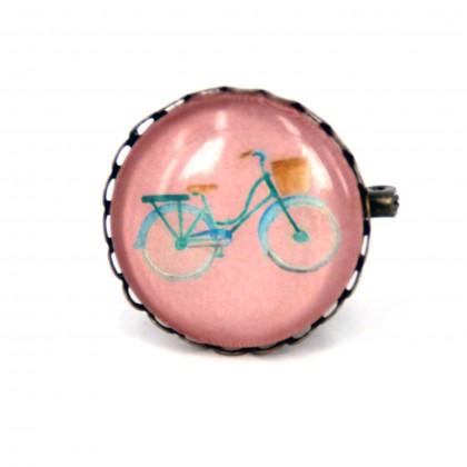 Broche - Bici Rosa