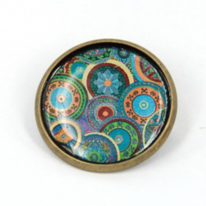 Broche - Ethnic Circles