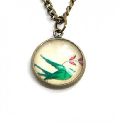 Collar Scope 14 - Green Bird