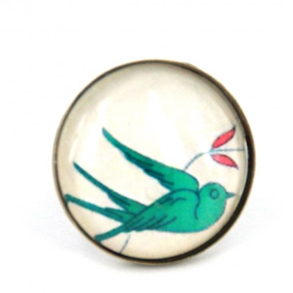 Anillo Grande - Green Bird